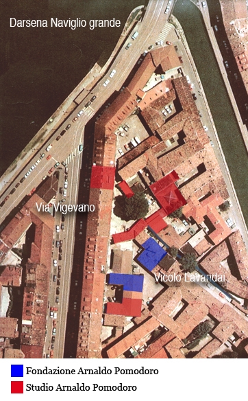 Studio e fondazione arnaldo pomodoro mumi ecomuseo for Fondazione arnaldo pomodoro